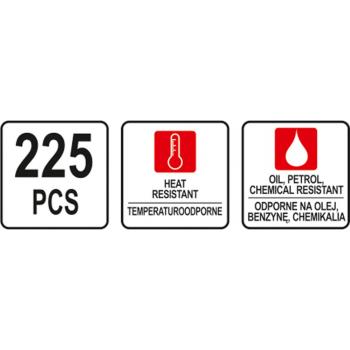 ZESTAW O-RINGÓW GUMOWYCH 225 SZT