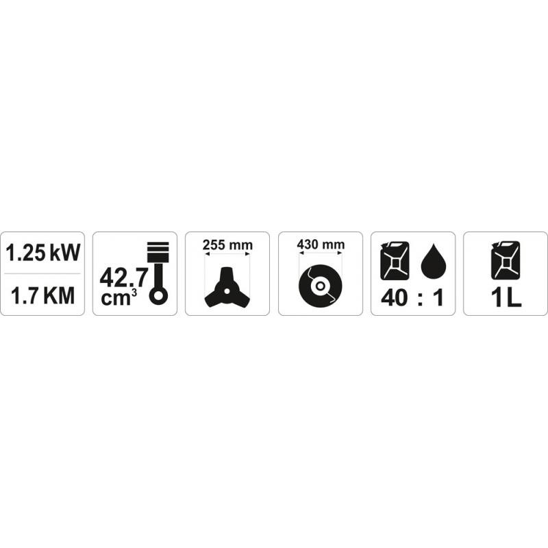 KOSA SPALINOWA 42,7 CM3 1,25KW/1,7KM