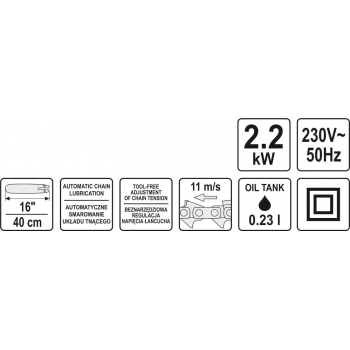 ELEKTRYCZNA PILARKA ŁAŃCUCHOWA 2,2 KW
