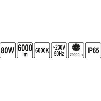 REFLEKTOR DIODOWY 80W 6000LM COB