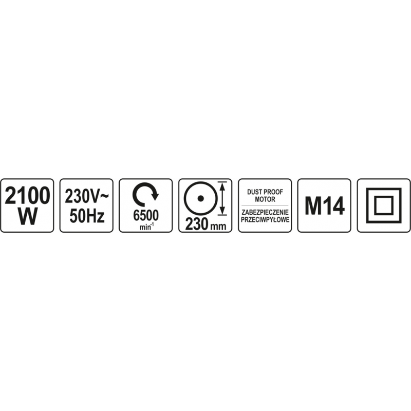 SZLIFIERKA KĄTOWA 230MM 2050W