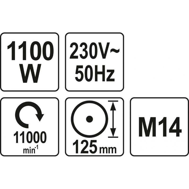 SZLIFIERKA KĄTOWA 1100W 125MM