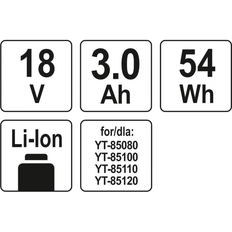 AKUMULATOR LI-ION 18V / 3,0 Ah