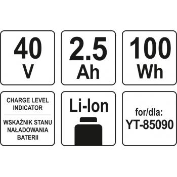 AKUMULATOR LI-ION 40V / 2,5 Ah