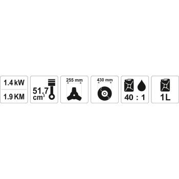 KOSA SPALINOWA 51,7 CM3 1,4KW/1,9KM