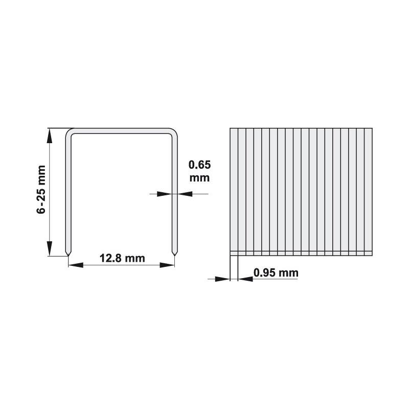 ZSZYWKI 16X12.8 MM, 1000 SZT
