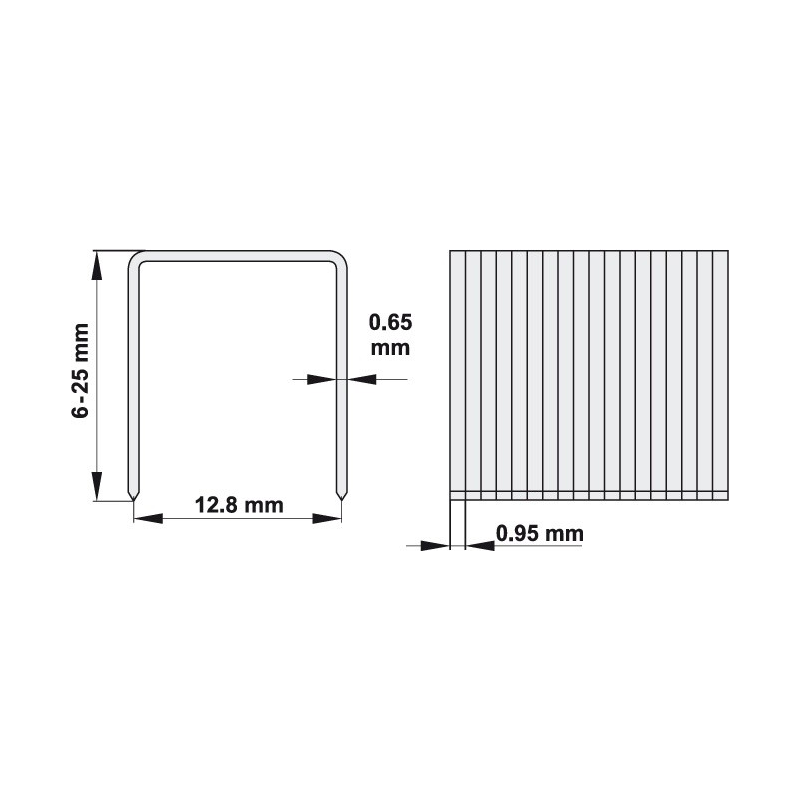 ZSZYWKI 25X12.8 MM, 1000 SZT
