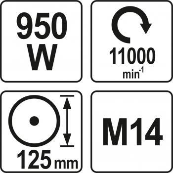 SZLIFIERKA KĄTOWA 950W 125MM