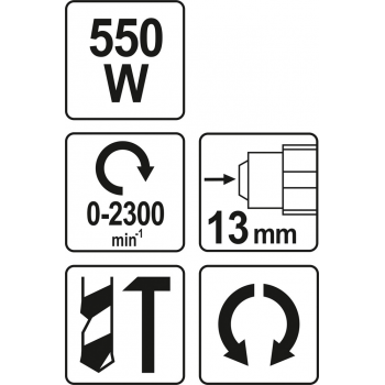 WIERTARKA UDAROWA 550 W