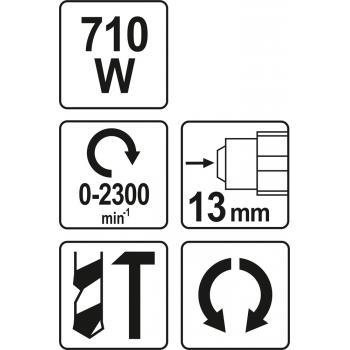 WIERTARKA UDAROWA 710 W