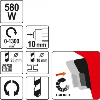 WIERTARKA DO METALU 580 W
