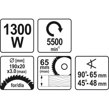 PILARKA 1300W 190MM