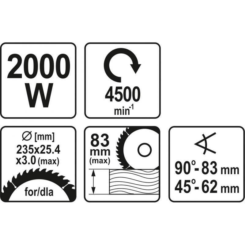 PILARKA 2000W 235MM