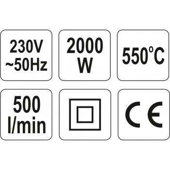 OPALARKA 2000W 350°C I 550°C