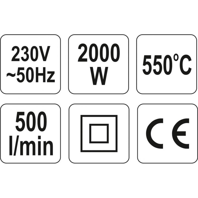OPALARKA 2000W 350°C I 550°C Z AKCESORIAMI