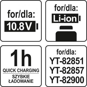 ŁADOWARKA 10,8V DLA YT-82851 YT-82900