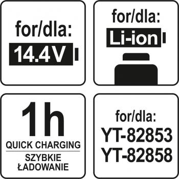 ŁADOWARKA 14,4- 18V DLA YT-82853