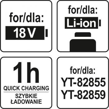 ŁADOWARKA 14,4- 18V DLA YT-82855